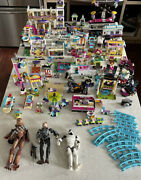 Huge Lego Lot Of Sets And Mixed Pieces. Friends Amusement Park Star Wars And More.