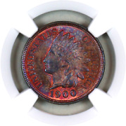 1900 Ms63 Bn Ngc Indian Head Penny Premium Quality Superb Eye-appeal