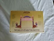 Mr. Christmas Gold Label World's Fair Vignette Entrance Gate In Box And Packaging