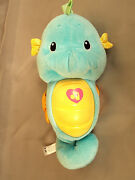 Fisher Price Ocean Wonders Soothe And Glow Seahorse Blue Musical Plush Toy