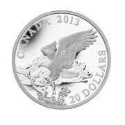 2013 20 Fine Silver Coin - The Bald Eagle Returning From The Hunt