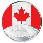 2019 5 Fine Silver Coin This Is Canada Flag Coin