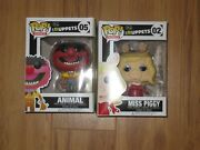 Funko Pop The Muppets Animal 05 And Miss Piggy 02 Lot Vaulted