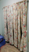 Vintage Elisa Drapes-2 More Pairs-from The Same Home-combed Cotton