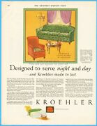 1929 Kroehler Chicago Furniture Living Room Sofa Arm Chair 1920and039s Home Dandeacutecor Ad