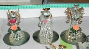 Lot Of 12 Various Spun Glass Angel Ornaments And Figurines