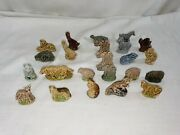 23x Misc Lot Of Vintage Wade England Figurines - Whimsies Red Rose Tea And More