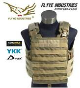 Flyye Armor Chassis Gen2 Plate Carrier Molle Tactical Vest - Coyote Brown