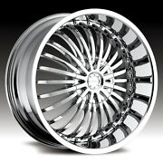 22 X 8.5 Inch Strada Spina Chrome Wheels And Tires Fit Impala Dts Venza Toyota