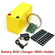 Diy 12v 3s7p Rechargeable Battery Box Pack With 40a Bms + Charger + Holder