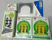 Lot Of 4 N Scale 8482 Brass Lamp Posts 8574 Railroad Signal Double Tunnel Portal