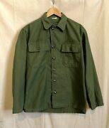 Vietnam 1962 Early-war Us Army Og-107 Cotton Sateen Type 1 Utility Shirt Small