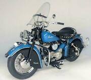 Danbury Mint 1948 110 Indian Chief Blue/black Motorcycle With Original Box