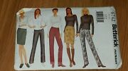 Butterick 6742 Misses/miss Petite Skirt And Pants Sz 6-8-10 Easy