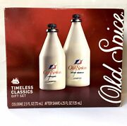 Vintage Old Spice 4.25 Oz After Shave And 2.5 Cologne Gift Set - New In Box Unused