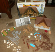 Vtg 1999 Ertl Farm Country Longhorn Ranch Loghouse Playset 12111 Complete Boxed