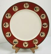 Williams Sonoma 12 Twelve Days Of Christmas 12andrdquo Dinner Plates 2010 Made In China