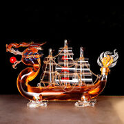 Whiskey Wine Creative Dragon Boat Style Design Decanter Bottle Home Bar And Gift