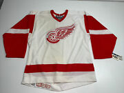 Authentic Vtg Ccm Center Ice Detroit Red Wings Nhl Hockey Jersey Rare 99andrsquo/2000