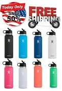 Hydro Flask Water Bottle - Wide Mouth Straw Lid 2.0 - Multiple Sizes And Colors