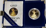 1986-w Proof 1 Oz American Gold Eagle 50 Coin Proof Gem Zero Flaws Dcameo W/coa