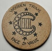 1959 Penn-ohio Convention Wooden Nickel Youngstown Coin Club Host-3c Trime