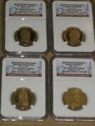 2011 S Proof Presidential Dollar 4 Coin Set Key Date Ngc Pf70 Ultra Cameo