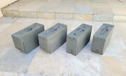 Wwi Us Military Army Gear 30 Cal Wood Ammo Can Box - Lot Of 4