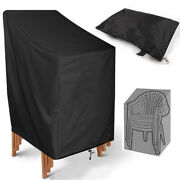 2pcs Patio Garden Waterproof Chair Cover Lounge Seat Lawn Furniture Cover Black