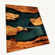 Acacia Custom Epoxy Coffee   Dining Table Top   River Table   Dining Table Deco