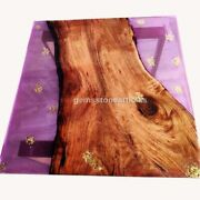 Handmade Epoxy Dining Table Top Pink Resin River Acacia Arts Antique Furniture