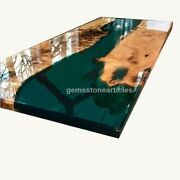 Black Epoxy Resin River Center Conference Table Top For Office Meeting Furniture