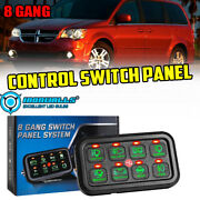 8 Gang On-off Control Switch Panel Green Fit Jeep Toyota Dodge Ford 4x4 Truck