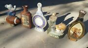 Vintage 1970and039s 1980and039s Jim Beam Decanters Lot Of 5 Football Post New Zealand Rare