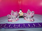 Princess House 24 Lead Crystal Rocking Clowns Figurines And Ceramic Clown Lot