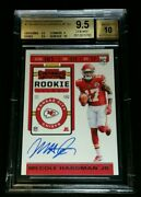 Bgs 9.5/10 Mecole Hardman Jr Rc Auto Ssp Rookie 100 Or Less Made 2019 Contenders