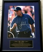 Tiger Woods Signed Autographed 1997 Hole In 1 12x16 Golf Photo Framed 83/100 Uda
