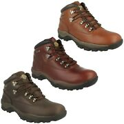 Inuvik Northwest Territory Mens Waterproof Lace Up Casual Leather Ankle Boots
