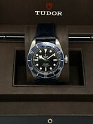 Tudor Heritage Black Bay Watch 79220b W/ Box And Card And Extra Strap