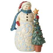 Jim Shore Heartwood Creek 'christmas Time Is Cherished Time' Snowman 6006646