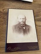 Antique Cabinet Photo Beared Man With Glasses Armstrong Studio Montreal