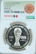 1982 Mexico Silver Medal Fifa World Cup Ngc Ms 66 Pl Beautiful Proof Like Top