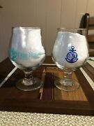 Tree House Brewing Tulip Beer Glasses Cape Cod And Sky Blue 1st Release Rare