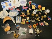 Vintage Brooch Lot Monet Betty Boop And More Gold Stamp Flowers Butterflies