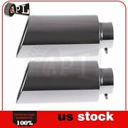 Stainless Steel Track Exhaust Tip 5 Inlet 8 Outlet 18 Length Rolled End