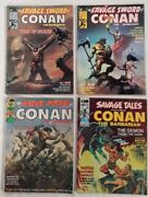The Savage Sword Of Conan The Barbarian 1359 Lot Of 41974marvelvg/gd