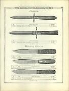 1895 Paper Ad John Newton And Co Sheffield Dagger New Mexican Rustler Bowie Knife
