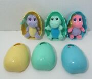 Dragon Tales Plush Babies In Eggs Baby Lot 3 Pink Green Purple Pink Soft Toys