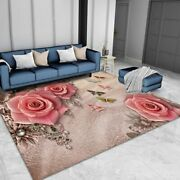 Soft Flannel Gothic Home Big Carpets For Living Room Bedroom Area Rugs Modern
