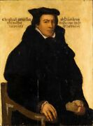 Very Rare Old Master Antique 16th 17th Century Portrait Painting Of A Nobleman